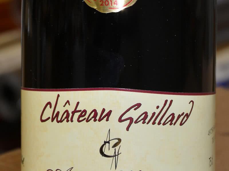 Etiquette viticulture Château Gaillard