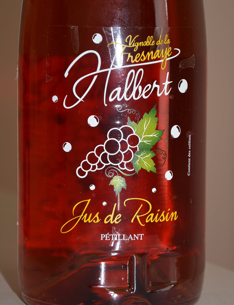 Etiquette Halbert jus de raisin petillant