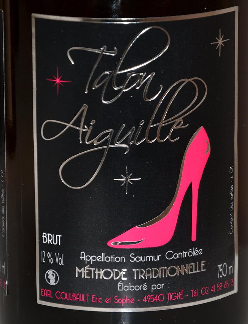 Etiquette vin Talon aiguille