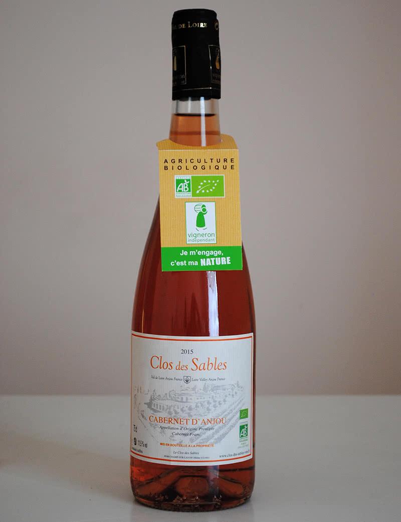 Etiquette vin Clos des Sables