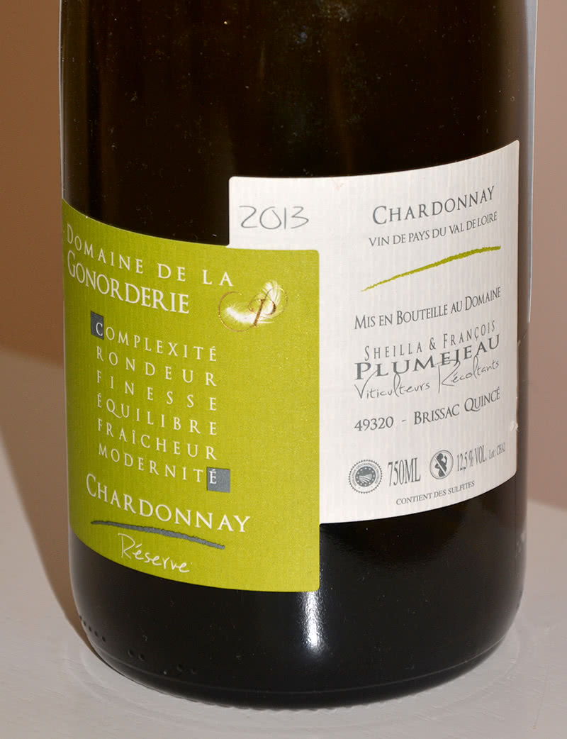 Etiquette viticulture Chardonnay