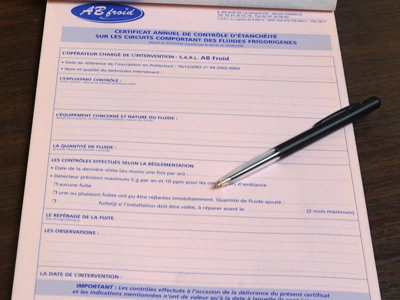 Certificat AB Froid